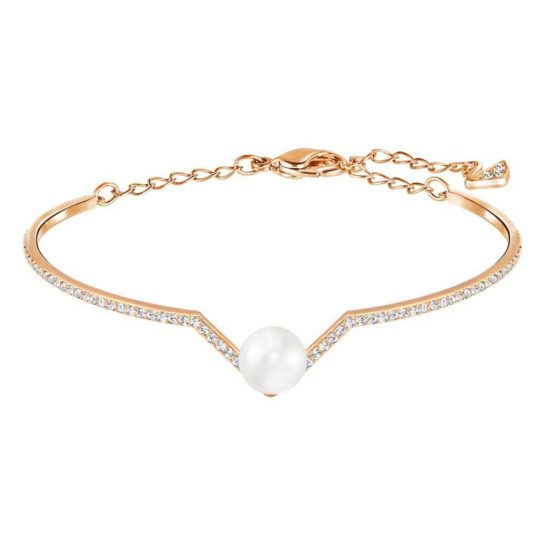 Swarovski Rose Gold Plated Simulated Pearl Bracelet