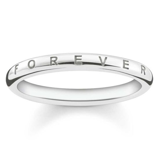 """Thomas Sabo Silver """"Together Forever"""" Band Ring"""