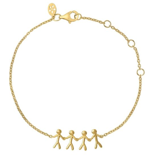 byBiehl Gold Plated Together Family 4 Bracelet