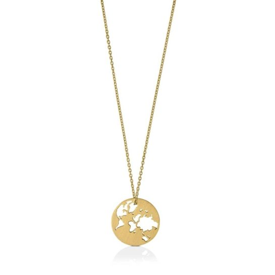 byBiehl Gold Plated Beautiful World Necklace