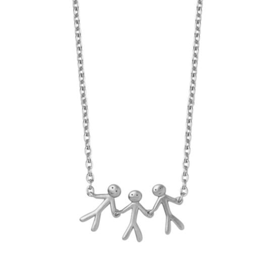 byBiehl Sterling Silver Together Family 3 Necklace