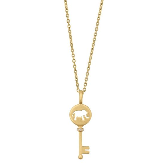 byBiehl Gold Plated Unlock Your Strength Necklace