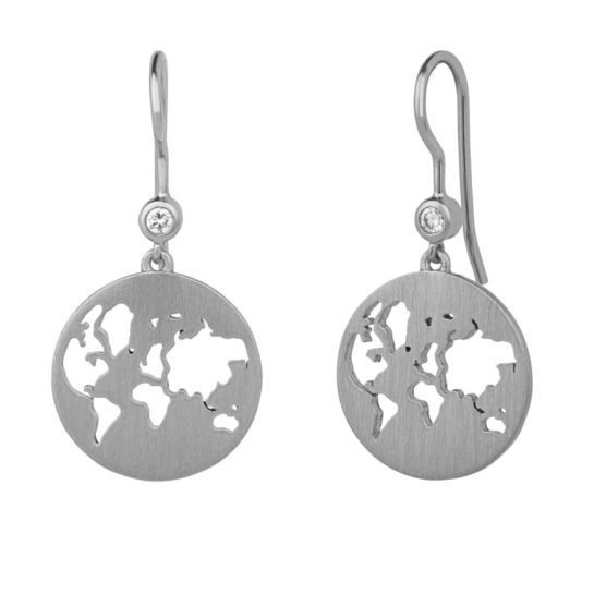 byBiehl Sterling Silver Beautiful World Dropper Earrings