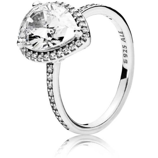 Pandora Large Radiant Teardrop Ring