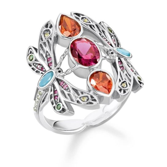 Thomas Sabo Sterling Silver Multistone Dragonfly Ring