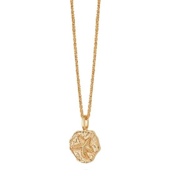 Daisy London Isla Gold Plated Starfish Fossil Necklace