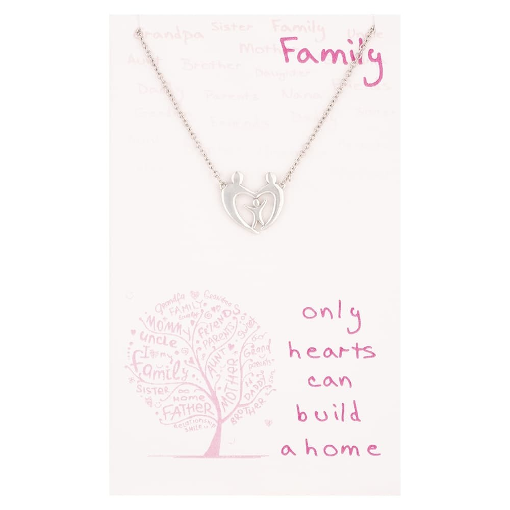 Sentiments Family Love Heart Necklace