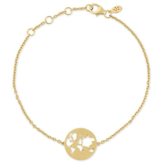 byBiehl Gold Plated Beautiful World Bracelet