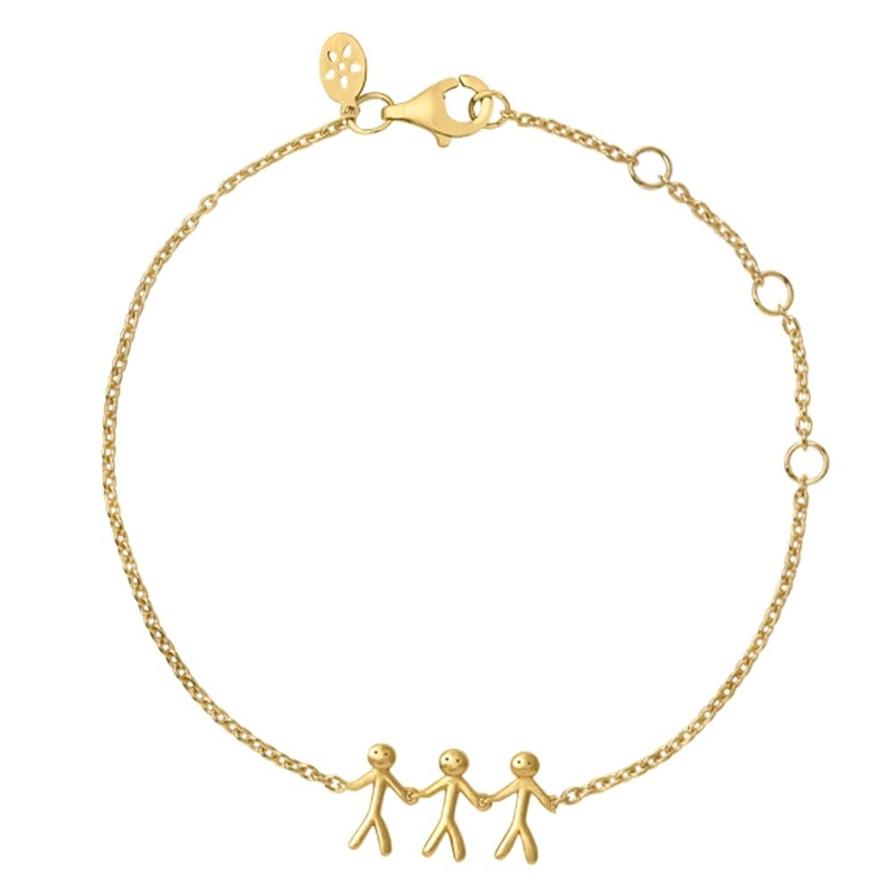 byBiehl Gold Plated Together Family of 3 Bracelet