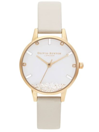 Olivia Burton Wishing Watch Gold Plated Nude Strap Watch