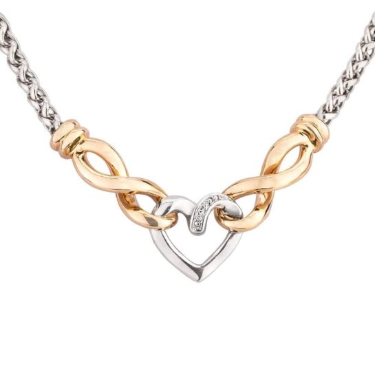 Pre-Owned Diamond Set Heart Necklace