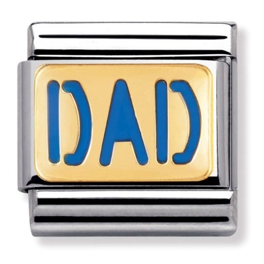 Nomination CLASSIC Gold Messages Dad Charm