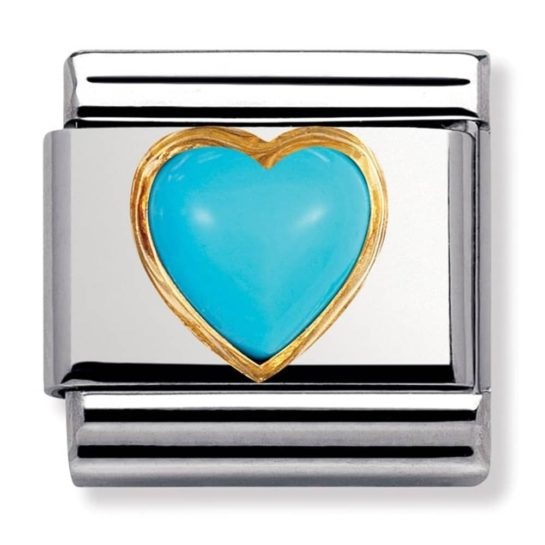 Nomination Turquoise Heart Stones Charm