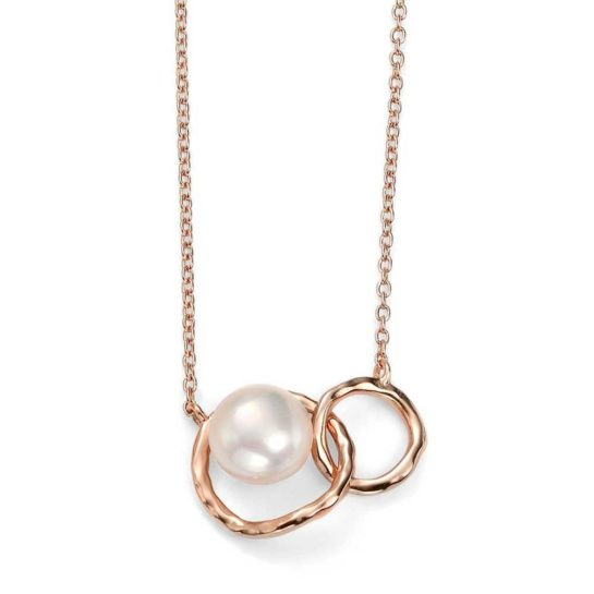Rose Gold-Plated Freshwater Pearl Necklet