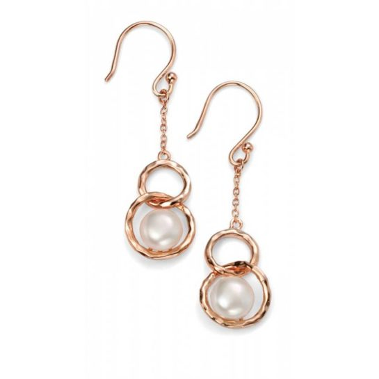 Rose Gold-Plated Freshwater Pearl Earrings