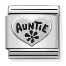 silver charm for auntie
