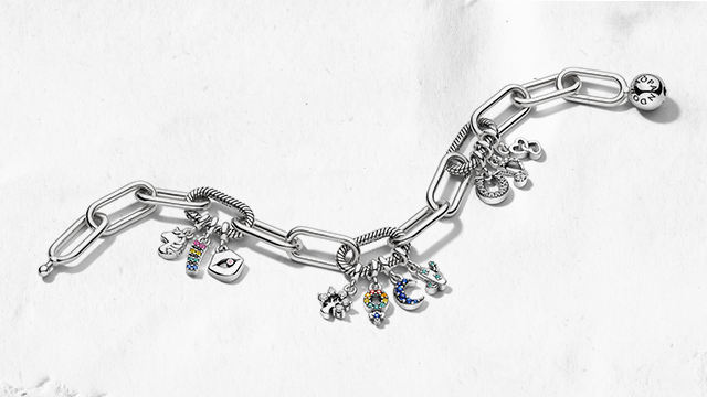 Pandora Me link bracelet with multiple dangle charms