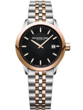 two-tone silver and gold bracelet watch from Raymond Weil