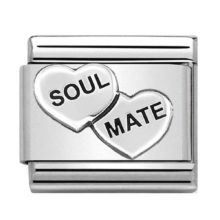 Silver Nomination soul mate charm with two hearts