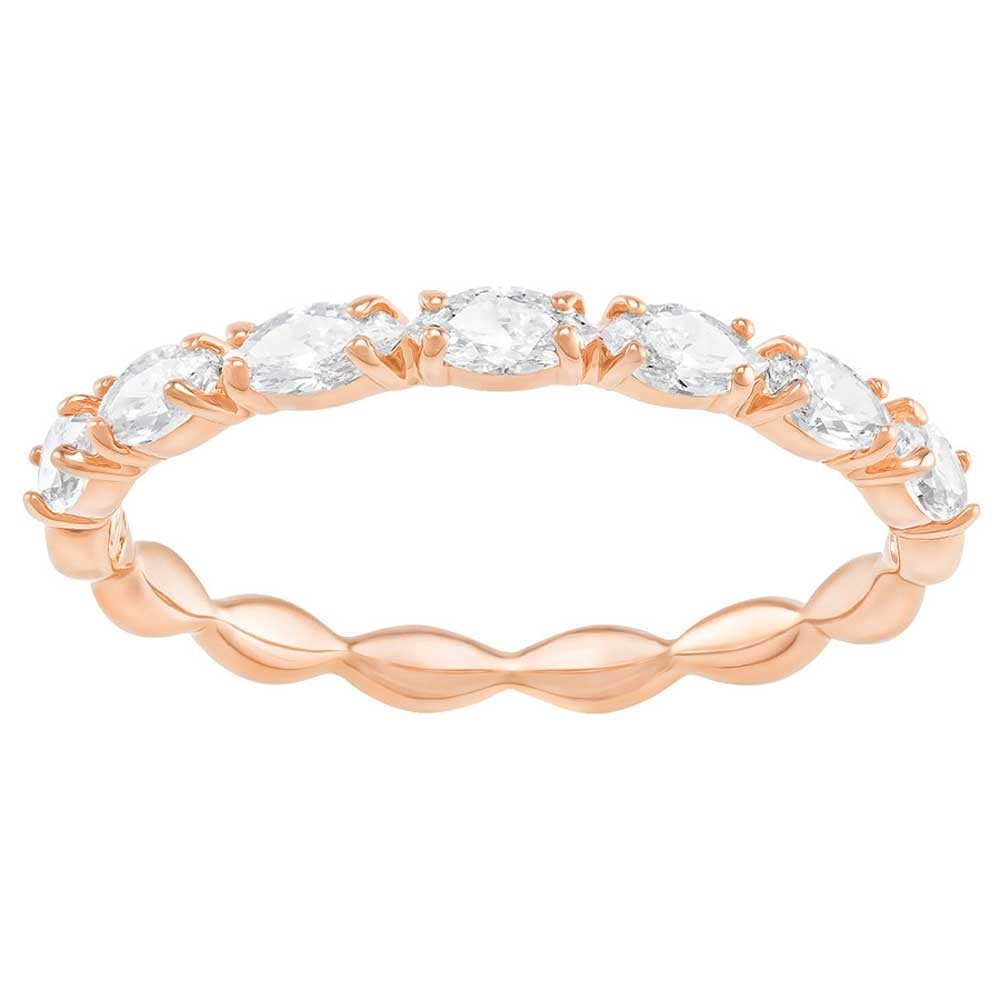 rose gold plated eternity ring with Swarovski crystals